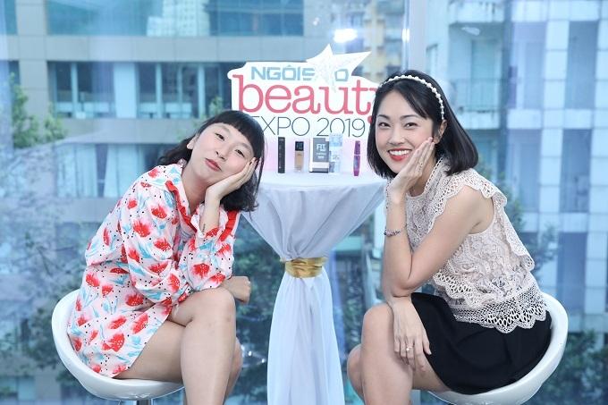 Trang Hý thường nhờ những bạn bè giỏi làm đẹpxung quanh, trong đó có Misoa, giúp mình định hình phong cách. Beauty blogger đã trổ tài trang điểm cho Trang Hý ngay trong buổi talkshow làm đẹpngày 21/9.