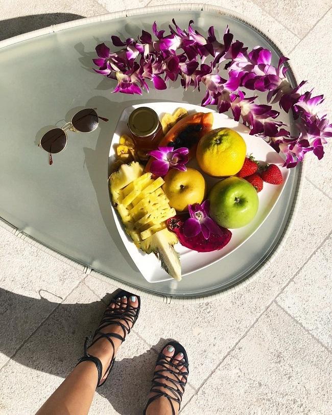 Chỉ ăn hoa quả trong ngày nhưng Amanda không bị đói nhưng số lần đi vệ sinh nhiều hơn bình thường.