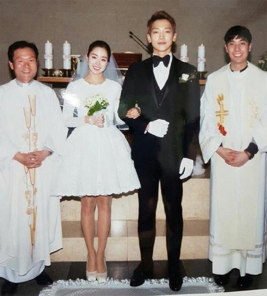 Ảnh cưới của vợ chồng Rain.