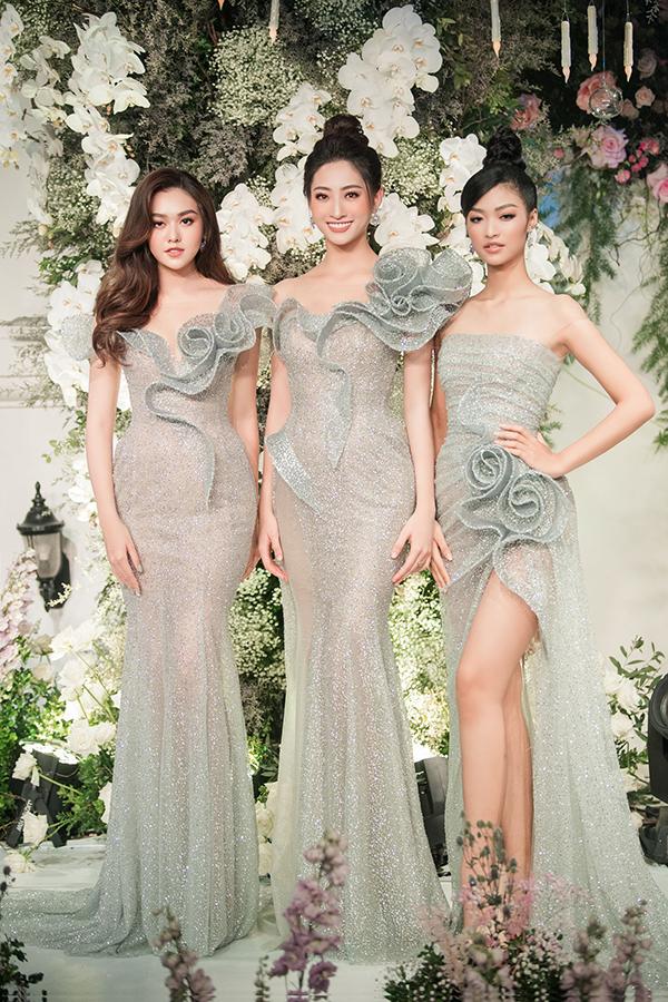 Trước đó, Lương Thùy Linh hội ngộ hai á hậu củaHoa hậu Thế giới Việt Nam 2019.