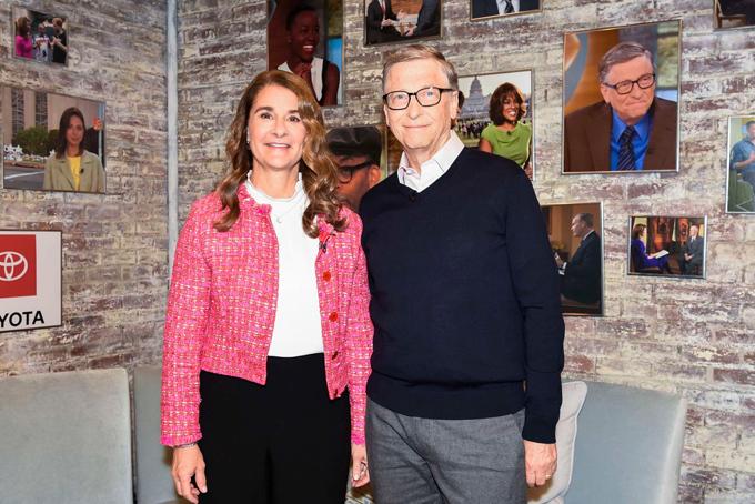 Vợ chồng tỷ phú Bill và Melinda Gates. Ảnh: CNBC.