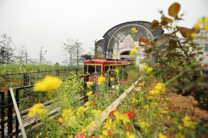 Xuất phát từ trung tâm thị trấn nối liền tới Fansipan, tàu hỏa leo núi Mường Hoa mở ra một hành trình nên thơ với khung cảnh thiên nhiên hùng vĩ, thung lũng Mường Hoa bảng lảng trong sương, những nếp nhà ẩn hiện trong khói chiều...