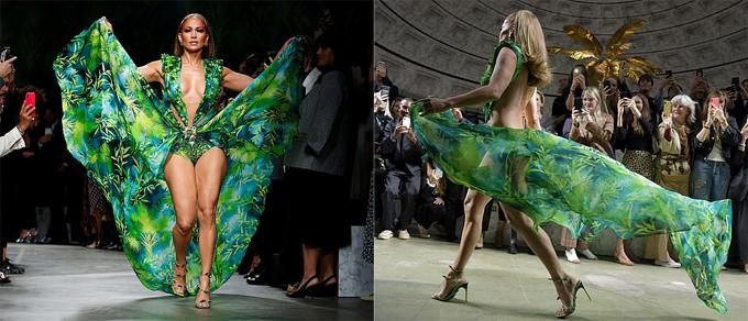 Fan dậy sóng khi Jennifer Lopez mặc lại chiếc váy 20 năm trước - 1