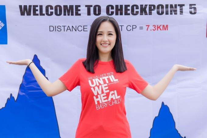 Mai Phương Thúy yêu thích thể thao, từng chạy 5 km tại giải VnExpress MarathonởQuy Nhơn hồi tháng 6/2019.
