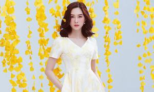 Đặng Thu Thảo diện váy mùa thu