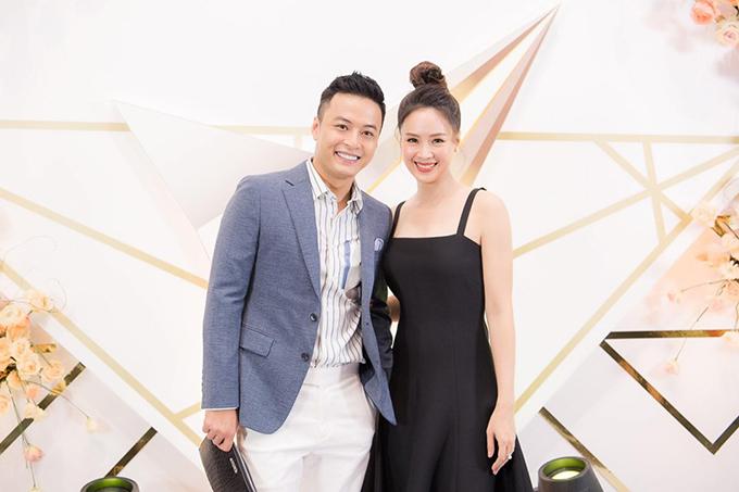 Hồng Diễm và Hồng Đăng tại gala trao giải VTV Awards 2019.