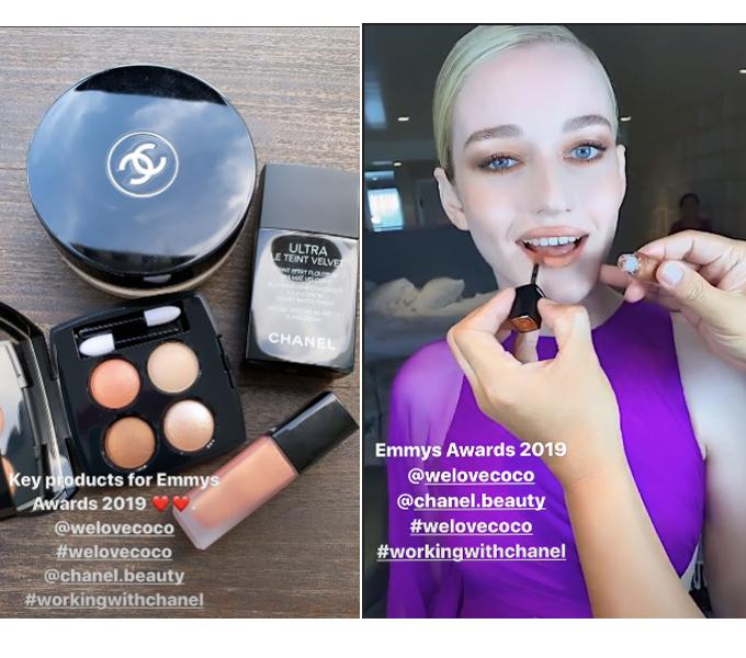Bộ sản phẩm Chanel Hung VanNgo sử dụng cho Julia Garner.