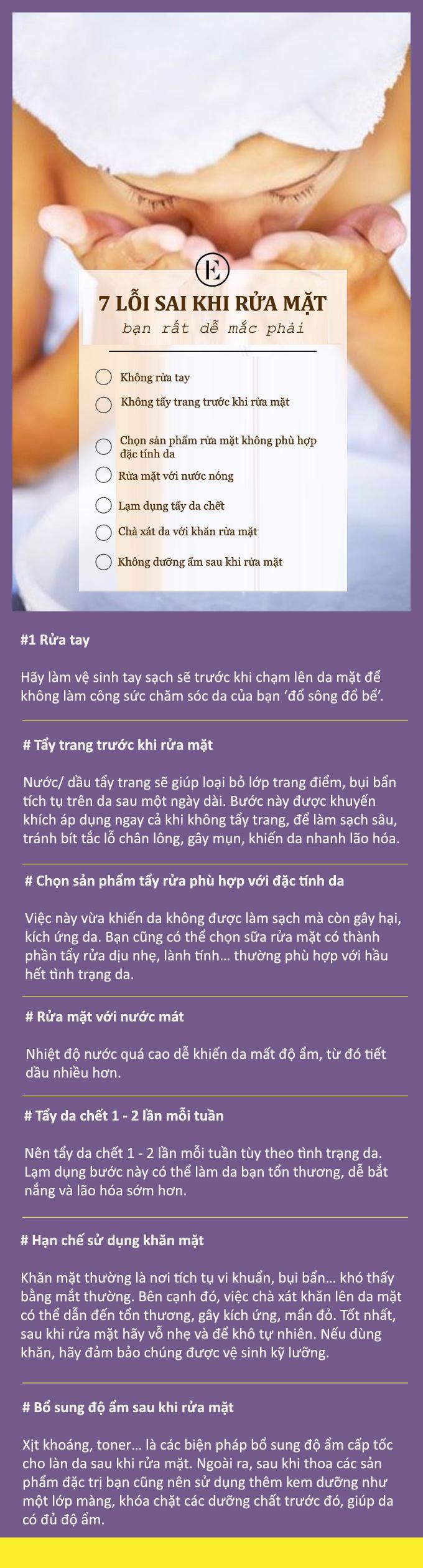 7 lỗi thường gặp khi rửa mặt