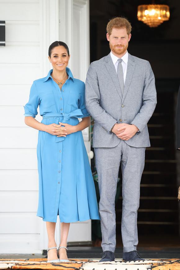 Harry và Meghan ở Tonga vào tháng 10/2018. Ảnh: PA.