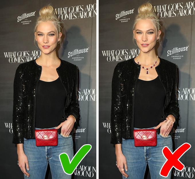 Không tham phụ kiện sáng màu Một chiếc túi hay đôi giày nổi bật  sẽ đóng vai trò điểm nhấn thú vị trên nền trang phục trung tính hoặc tối màu. Và chỉ một là đủ. Việc nhồi nhét nhiều chi tiết bắt mắt sẽ làm giảm độ thanh lịch của tổng thể.