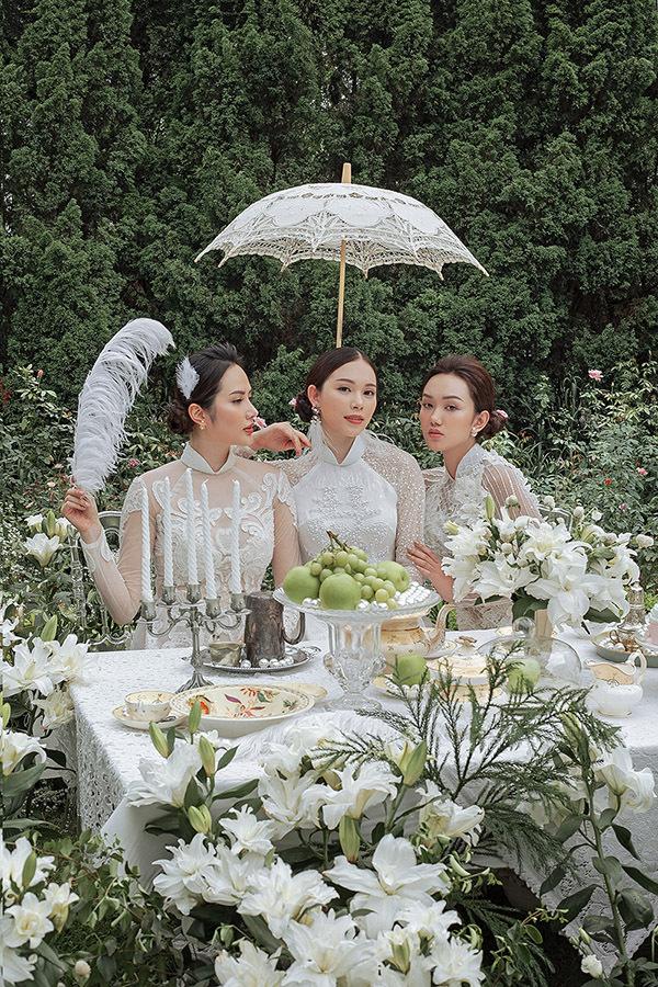 Khi thực hiện bộ ảnh, Linh Rin hội ngộ Hoa hậu Đông Nam Á Diệu Linh và người mẫu Thu Huyền.