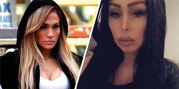 Jennifer Lopez (trái) và nguyên mẫu nhân vật Samantha Barbash.