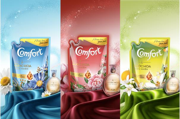 Comfort Hương Nước Hoa Thiên Nhiên phiên bản giới hạn có 3 mùi hương riêng biệt dành cho từng cá tính.