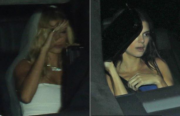 Sau đêm tiệc, Hailey và Kendall ngồi cùng xe ra về.