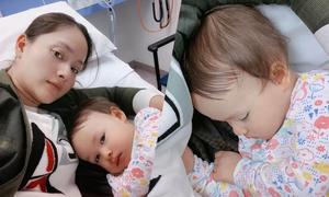 Lan Phương mất ngủ vì con ốm