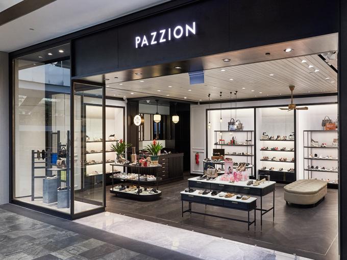 Phong cách bày trí sản phẩm của Pazzion mang tiêu chuẩn châu Âu