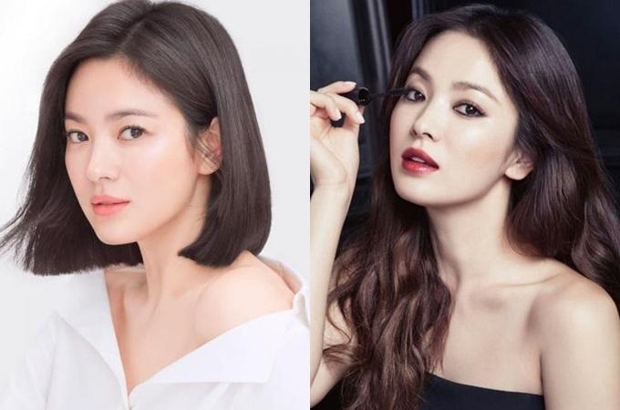 Ngọc nữ Song Hye Kyo luôn nằm trong top biểu tượng nhan sắc Hàn Quốc. Cô thu hút truyền thông lẫn khán giả mỗi lần thay đổi phong cách tóc. Những năm đầu gia nhập làng giải trí, cô gắn liền với mái tóc dài. Về sau, để thay đổi hình ảnh và phù hợp với vai diễn, Hye Kyo đểtóc ngắn. Mái tóc bob giúp người đẹp tôn đường nét tỷ lệ vàng, còn tóc xoăn dài vừa quyến rũ, vừa chững chạc.