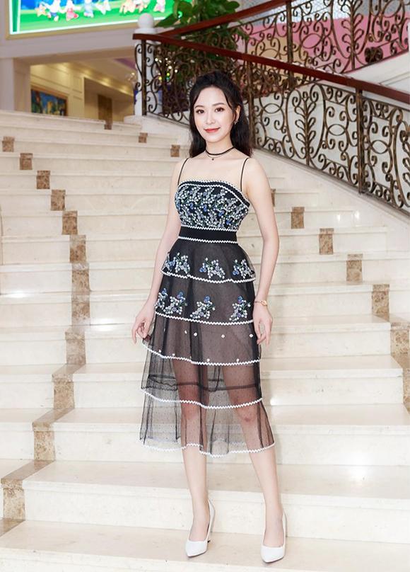 Kim Oanh tại một sự kiện tổ chức ở Hà Nội hôm 8/9.