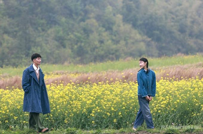 Không gian cánh đồng hoa lãng mạn của phim.