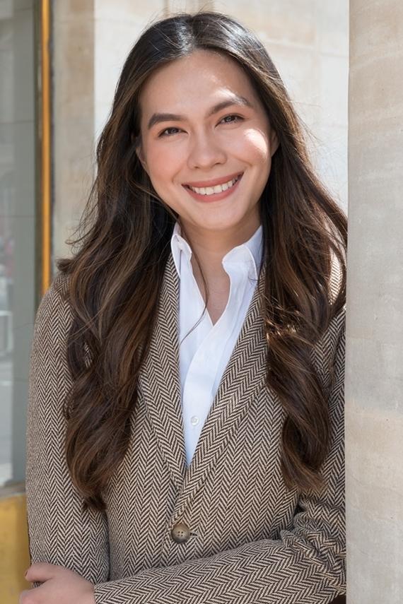 Thùy My đang theo học ngành Truyền thông Báo chí tại Đại học Stanford, Mỹ. Khi đi học, cô lấy tên là Catherine. Ái nữ nhà Diễm My thông thạo tiếng Anh, Pháp, Nga, Trung Quốc. Những lúc rảnh rỗi, cô thích nấu ăn, đọc sách, đi du lịch và học ngôn ngữ.