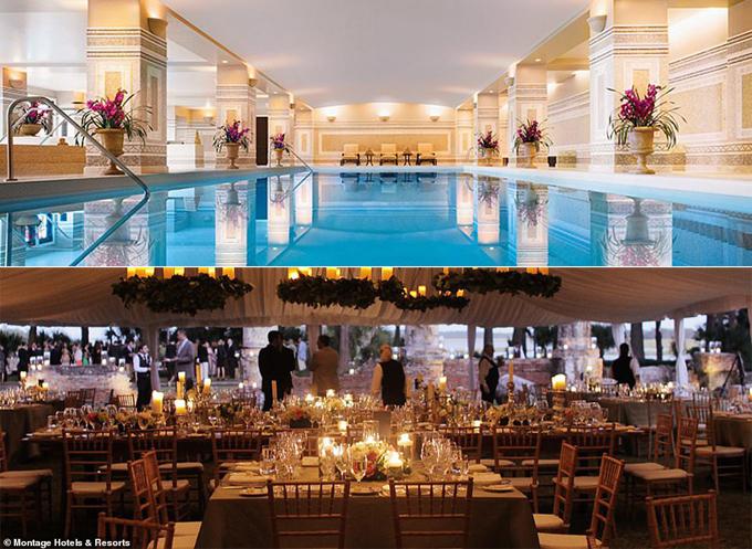 Bể bơi và nhà hàng chính tại Montage Palmetto Bluff.
