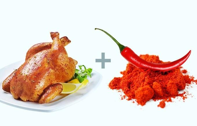 Thịt gà vàớt Cayenne: Trong thực đơn giảm cân các chuyên gia dinh dưỡng gợi ý luôn có thịt gà, chủ yếu là ức gà. Không chỉ giàu protein, ức gà còn chứa ít calo, giúp giảm cân hiệu quả.Ớt cayennegiàu capsaicin - hợp chất tạođộ nóng trong ớt cay, giúp kiểm soát sự thèm ăn và tăng tốc độđốt cháy calo của cơ thể.