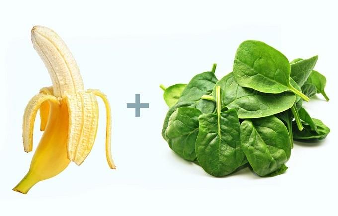 Chuối và rau dền: