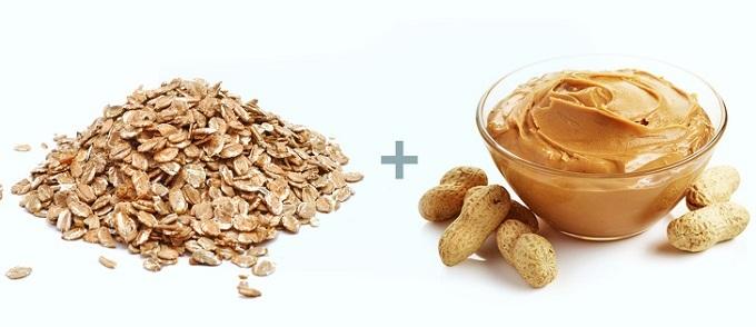Yến mạch và bơ đậu phộng: Yến mạch là một trong những loại ngũ cốc giàu chất dinh dưỡng nhất, không có gluten (một loại protein có thể gây dị ứng). Ngoài chất xơ, yến mạch còn chứa nhiều loại vitamin, khoáng chất, chất chống oxy hóa có lợi cho cơ thể. Trong yến mạch có nhiều chất xơ beta-glucan hòa tan giúp giảm cholesterol và lượng đường trong máu, thúc đẩy vi khuẩn đường ruột khỏe mạnh và tăng cảm giác no. Yến mạch thường xuất hiện trong thực đơn giảm cân của các chuyên gia dinh dưỡng. Bơ đậu phộng chứa 25% protein,  chất béo lành mạnh,hàm lượng carbs (carbonhydrates) thấp,phù hợp cho người mắc bệnh tiểu đường loại 2 hoặc chongười theo chế độ ăn kiêng low-carb. Sự kết hợp của 2 thực phẩm này giúp người đang giảm cân mau no, giảm lượng thức ăn đưa vào cơ thể nhưng vẫn hấp thụ đủ chất và năng lượng cho cơ thể vận hành bình thường.