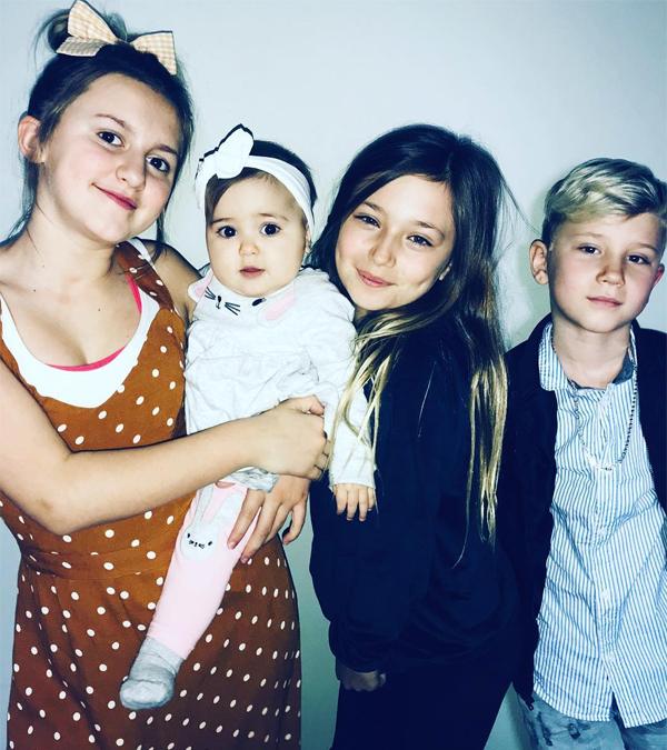 4 người em của Justin Bieber rất thân thiết với nhau, thường khoe ảnh chụp chung trên mạng xã hội.