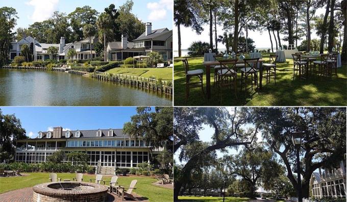 Quang cảnh resort Montage Palmetto Bluff - nơi Justin Bieber và Hailey Baldwin trao lời thề nguyền vào tối 30/9.