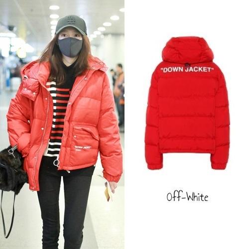 Tại sân bay Bắc Kinh tháng 12 năm ngoái, diễn viên diện áo khoác đỏ tươi