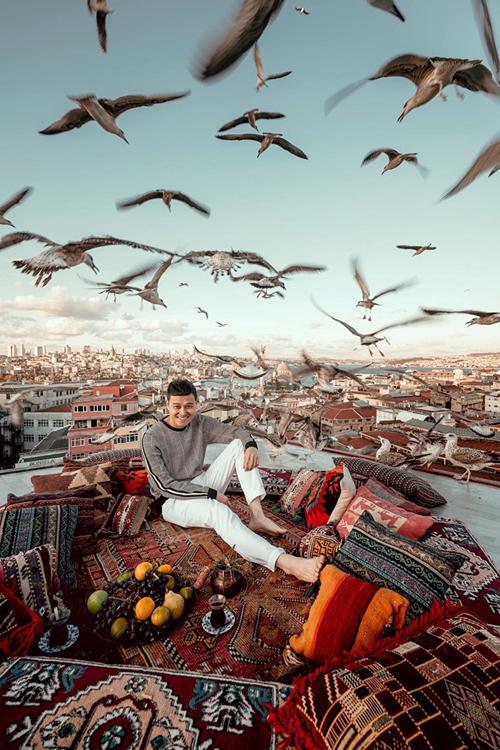 Quang Vinh bay lơ lửng ở Thổ Nhĩ Kỳ