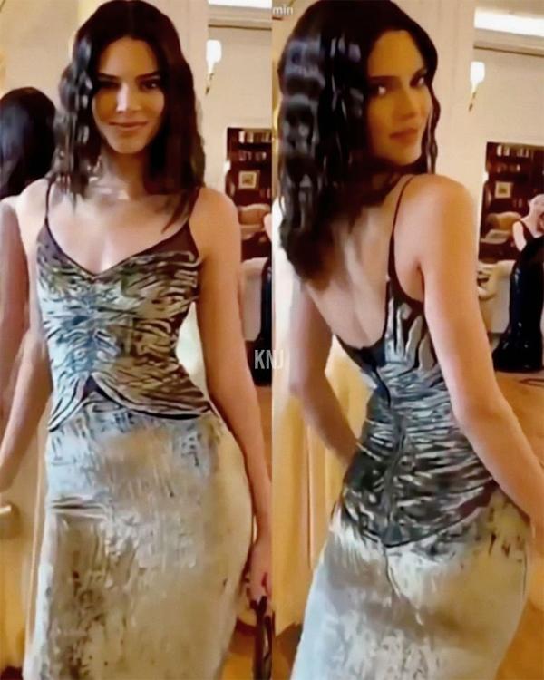 Kendall Jenner khoe ảnh diện đồ tới lễ cưới.