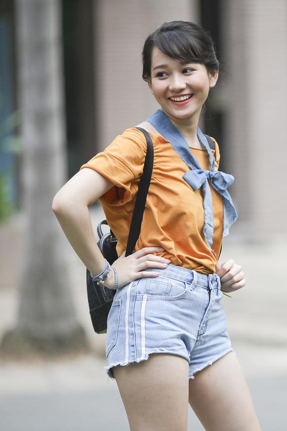 Hot girl 21 tuổi Trúc Anh đóng Ngốc ơi tuổi 17 trước khi nhận vai nữ chính Hà Lan trong phim Mắt biếc.