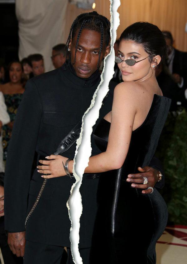 Kylie Jenner và Travis Scott.