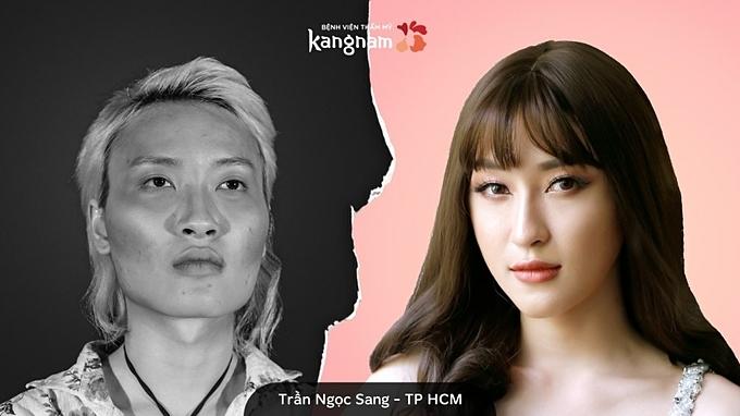 Trần Ngọc sang trong Hành trình lột xác 2018.
