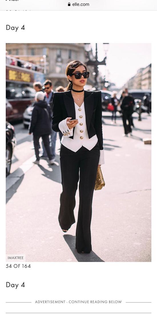 Thảo Tiên khiến khán giả trong nước bất ngờ khi lần đầutiênlọt vào danh sách The best street style của Paris Fahsion Week 2020dotạp chí ELLE quốc tế chọn lựa.
