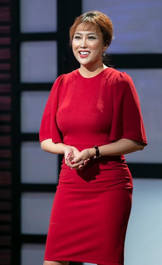 Nữ diễn viên Phi Thanh Vân gọi vốn trên chương trình Shark Tank Việt Nam mùa 3. Ảnh: Shark Tank Việt Nam.