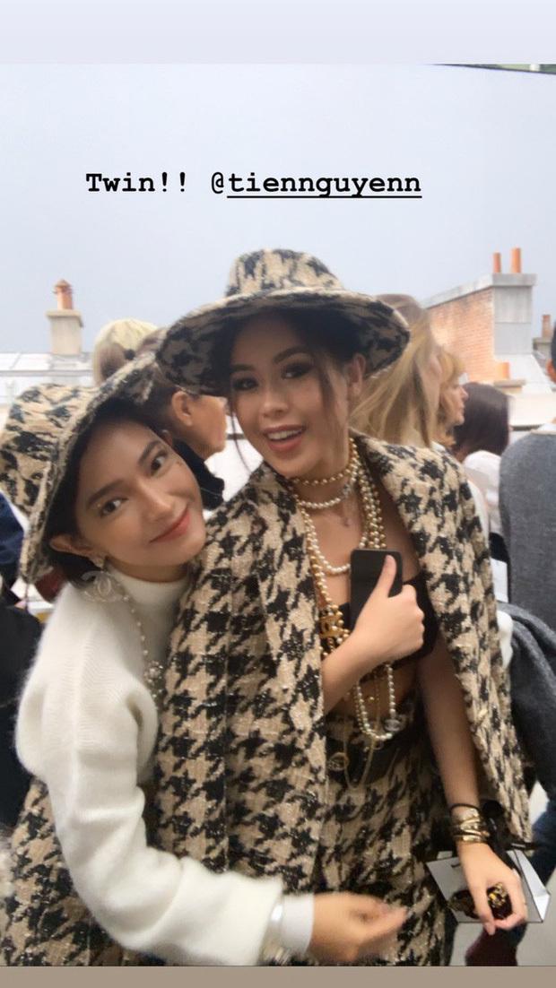 Thảo Tiên có dịp hội ngộ Châu Bùi khi đến theo dõi show diễn của nhà mốt Chanel.