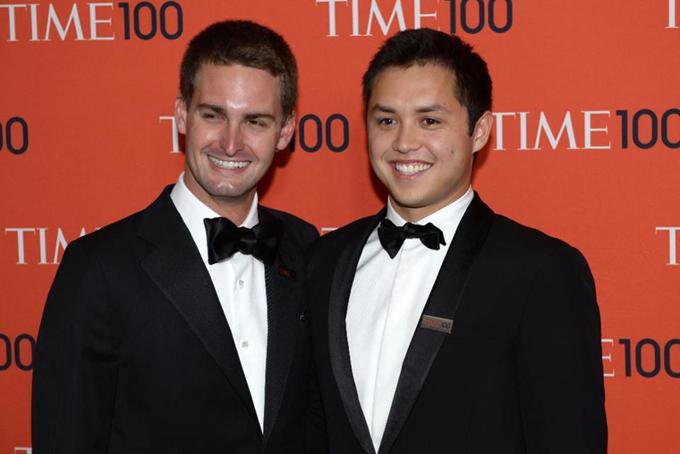 Hai nhà đồng sáng lập Snapchat: Evan Spiegel (trái) và Bobby Murphy. Ảnh: Forbes.