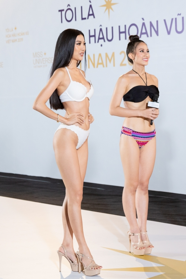 Thuý Vân được ghép trình diễn bikini cùng hai thí sinh khác, trong đó Nguyễn Diana. Cả hai từng dự thi Hoa khôi Áo dài 2014 - cuộc thi Thuý Vân giành giải Á khôi 1. Sau phần trình diễn, 3/5 thành viên ban giám khảo đều dành lời khen cho thí sinh Diana bởi gương mặt rạng rỡ, lối trình diễn tự tin.