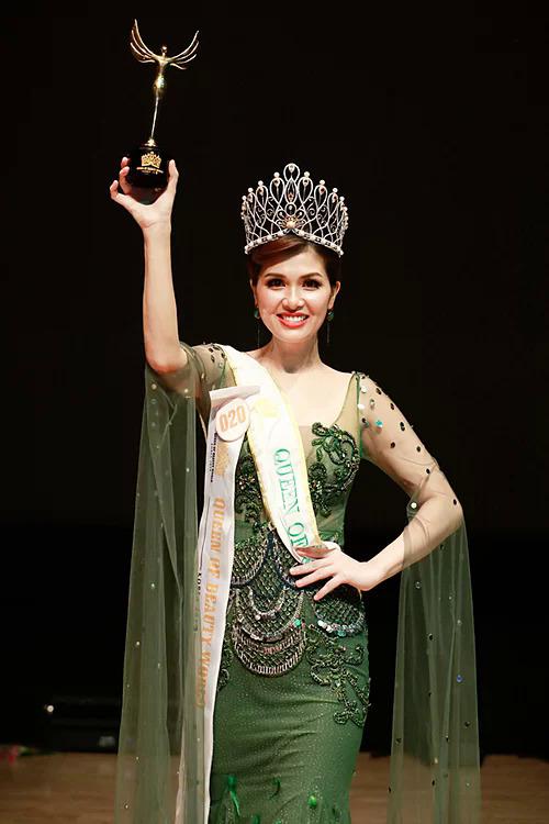 Oanh Yến đăng quang Nữ hoàng Sắc đẹp Thế giới tại Hàn Quốc tháng 7/2019.