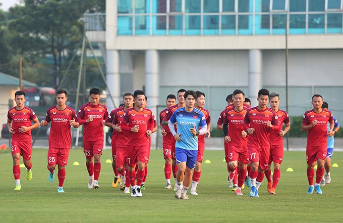 Tuyển Việt Nam đang trong giai đoạn nước rút chuẩn bị cho các trận đấu với Malaysia và Indonesia. Ảnh: Đương Phạm.