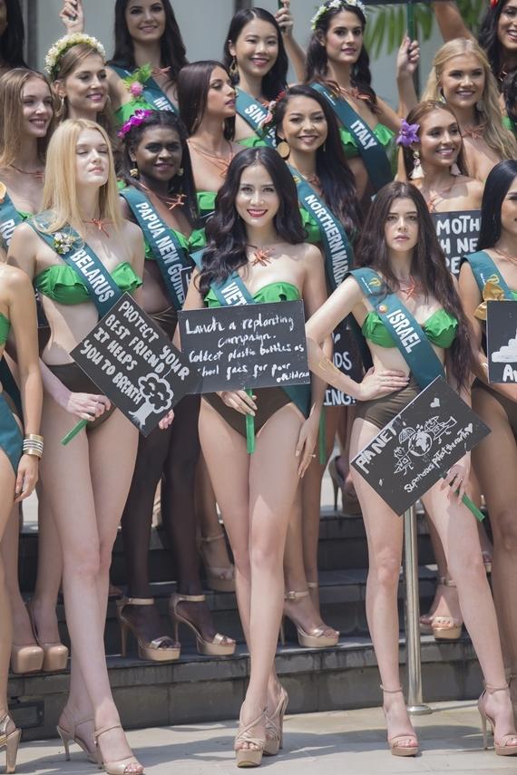 Người đẹp 27 tuổi nổi bật giữa dàn thí sinh nhờ gương mặt khả ái, hình thể gợi cảm. Cô cao 1,76m, số đo ba vòng 88-62-96.