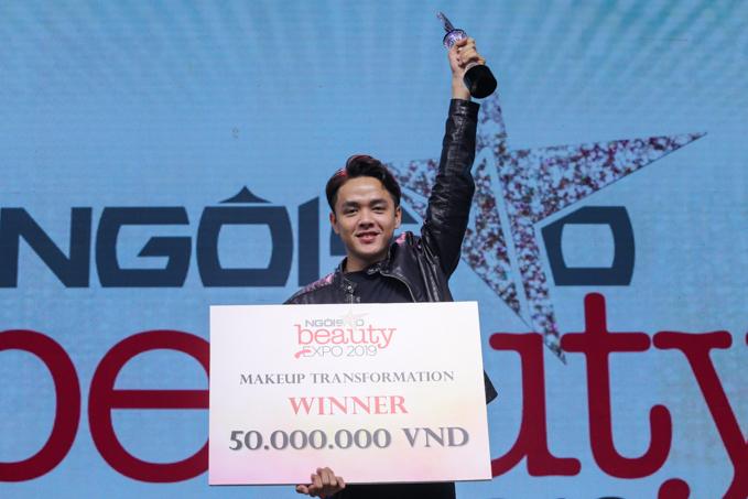 Thí sinh Nguyễn Hùng Khang trở thành quán quân cuộc thi Makeup Transformation.