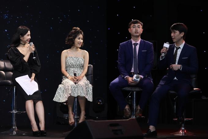 Bác sĩ Ji-hun Huỳnh (bên phải) chia sẻ xu hướng phẫu thuật thẩm mỹ tại workshopTriển làm làm đẹp Ngoisao Beauty Expo.