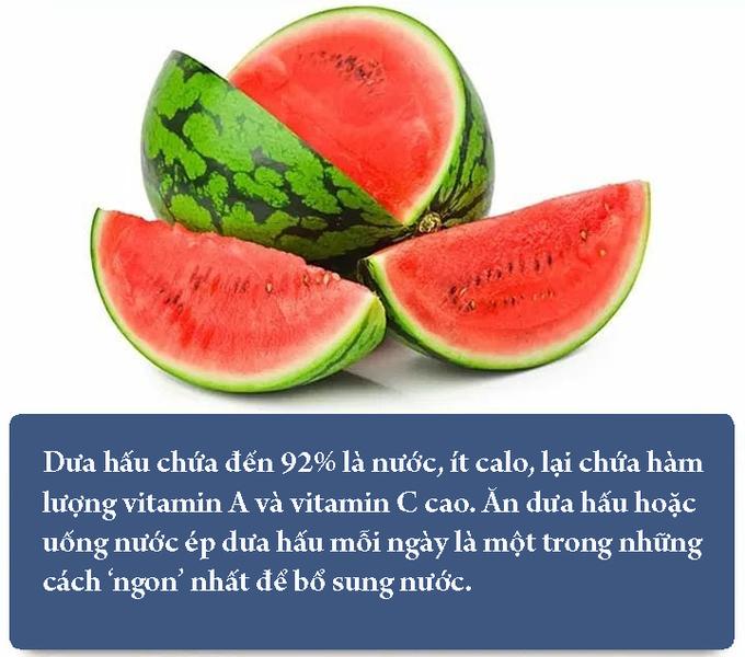 5 thức quả bổ sung nước cho cơ thể