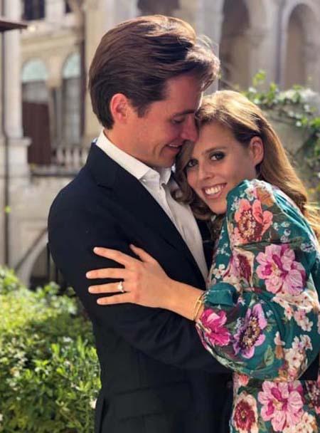 Beatrice và chồng sắp cưới Edoardo Mapelli Mozzi. Ảnh: PA.