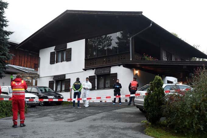 Cảnh sát phong tỏa ngôi nhà nơi vụ án xảy ra ở làngKitzbuehel
