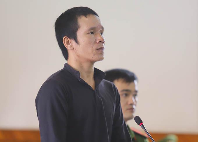 Bị cáo Hùng tại tòa. Ảnh: Hùng Lê